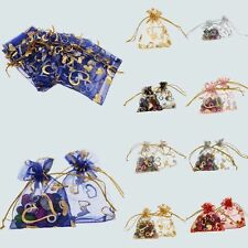 50/100pcs  Bulk Sweet Heart Organza Jewelry Gift Favor Candy Bags Pouch Package
