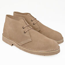 Mens Gents New Stone Suede Leather  2 Eyelet  Laceup Casual Desert Boots 3-14