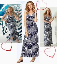 $198 Lilly Pulitzer Sloan Bright Navy Oh Cabana Boy Print Jersey Maxi Dress