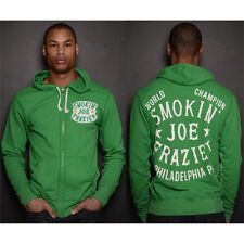 Roots of Fight Joe Frazier World Champ FZ French Terry Zip-Up Hoodie - Green