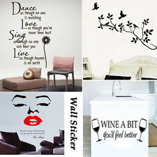 DIY Home Decor Tree Bird Lip Dance Wine Mural Decal Room Wall Art Sticker Vinyl