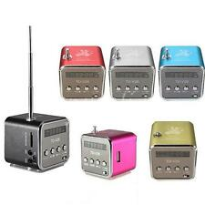Mini Casse Micro SD TF USB Stereo Music Speaker + FM Radio Per PC iphone 6 ipad