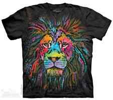 THE MOUNTAIN MANE LION COLORFUL BIG FACE PAINT ANIMAL KING T TEE SHIRT S-5XL