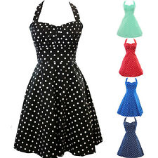 Womens Vintage Rockabilly Retro Swing 50's 60's Pinup Housewife Prom Party Dress