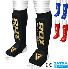RDX Shin Instep Pads MMA Leg Foot Guards Muay Thai Kick Boxing Guard Protector M