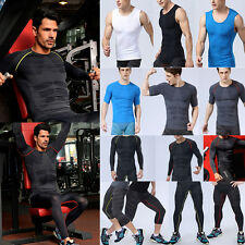 Mens Compression Fitness Base Layer Under Skin Sportwear Thermal Tights Gym Gear
