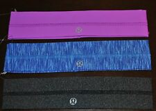lululemon headband Lulu Lemon hair fly away tamer blue purple grey new NWT print