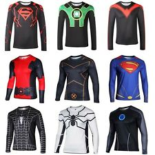 Men Marvel Superhero Top Tee Costume Long Sleeve T-Shirts Jersey Cycling Shirt
