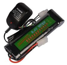 8.4V NiMH 3800mAh Rechargeable Battery Pack + Charger For RC Airsoft