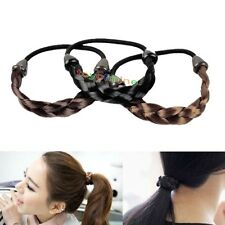 Fashion Color Faux Wig Elastic Rope Ring Hairband Hair Band Ponytail Holder