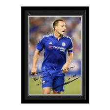 Personalised Chelsea FC Football Club John Terry Autograph Photo Framed