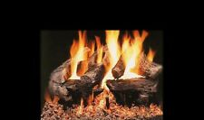 """18"""", 24"""", 30"""" Kingston Vented Fireplace Gas Logs Lots of Bark Detail LP or NG"""