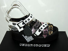 UNDERGROUND 'OAKLEY' WIDTH ADJUSTABLE LEATHER CREEPER SANDALS. BNIB