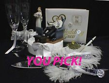 """VIDEO """"New Game"""" YOUR Choice Wedding Cake Topper, Knife set or Book funny gamer"""