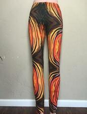 FUNKY PSYCHEDELIC TRIPPY Hippie Hooper Festival Mind Melt Print Yoga Leggings XL