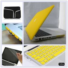 "5in1 Yellow Laptop Matte Hard Case Cover Bag for Macbook Air Pro 11"" 13"" 15""inch"