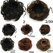 1pc Pony Tail Women's Clip in/on Hair Bun Hairpiece Hair Extension Scrunchie D59