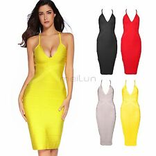 Summer Sexy Womens Bandage Bodycon Evening Party Cocktail Knee Length Dress XS-L