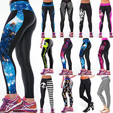 Femmes 3D Imprimé Sports Yoga Gym Fitness Training Pantalons extensible Leggings