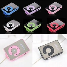 Mini Hot Mirror Clip USB Digital Mp3 Music Player Support Up 8GB SD TF Card USB
