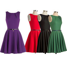 Womens Pinup Retro 50's 60's Vintage Swing Prom Coktail Party Dress Skater Dress