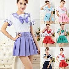 Japanese School Girl Dress Outfit Sailor Uniform Cosplay Costume Fancy Dress New