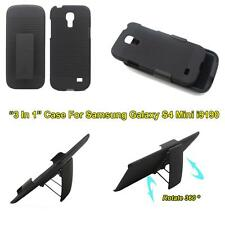 Armor Hard Stand Case+Holster Belt Clip Cover For Samsung Galaxy S4 Mini i9190