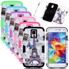 New Eiffel Tower Pattern Printed Combo Shockproof Case For Samsung Galaxy S4 S5