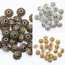 Lots Tibetan Silver Flying Saucer UFO Shape Spacer Beads Findings 40 Pcs