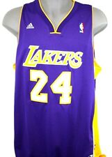 NEW Mens ADIDAS Kobe Bryant #24 Los Angeles Lakers Purple NBA Swingman Jersey +2