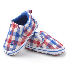 Blue Red & White Baby Boy Infant Cotton Summer Casual Shoes Pre Walkers