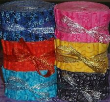 "Honey Bun Fabric Roll 10~1.5"" Strips U Pick Color Turquoise Pink Yellow Blue Lot"