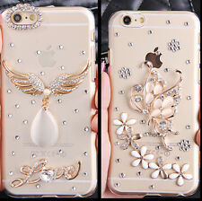 Bling Cute Shine Handmade Crystal Diamonds Clear Hard Back Case Cover For Apple