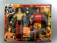JAKKS PACIFIC WWE SHAWN MICHAELS HULK HOGAN RINGSIDE ICON VS LEGEND FIGURE SET