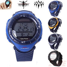 Waterproof Multi-Functional Solar Powered Digital Chronograph Sport Wrist Watch