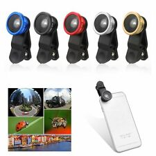 3 in1 Fish Eye + Wide Angle + Macro Lens Fisheye Clip For iPhone Samsung HTC LG