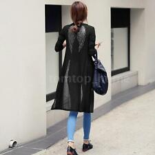 Women Black/White Wings Print Long Sleeve Cardigan Thin Coat Wrap Tops HOT 0U1M