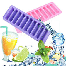 Practical Silicone Cylinder Ice Cube Tray Freeze Mould Jelly Chocolate Mold Tool