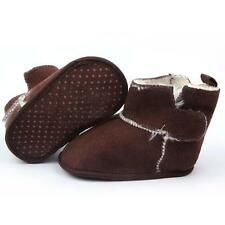 Baby Kids Boys Girls Brown Thick Cotton High Boots Walking Soft Sole Warm Shoes