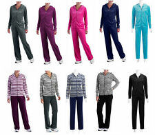 NEW Danskin  Women's Velour Hoodie Jacket & Pants Tracksuit Athletic Lounge 2PC