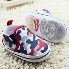 Baby Boy Blue Red White Infant camouflage Canvas Summer Casual Shoes Pre Walkers