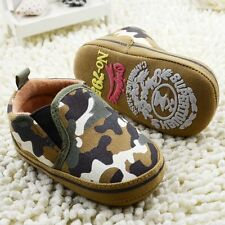 Baby Boy Infant Army Camouflage Canvas Summer Casual Shoes Pre Walkers