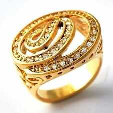 Intricate Snake Pattern Womens Ring Yellow GF Clear CZ  Size 9,10# D1606- D1607