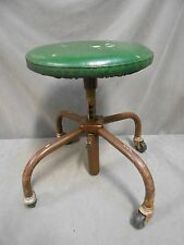 Vintage Industrial Machine Age Steampunk Adjustable Height Swivel Chair Stool