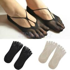 PAIR SEXY WOMENS LADIES GIRLS SHOE LINERS FOOTSIES ANKLE BOAT SOCKS 5 TOES SOCKS