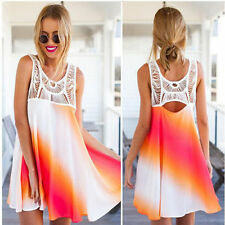 Sexy Women's Sleeveless Party Evening Cocktail Summer Beach Short Mini Dress R58
