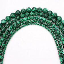 Hot Malachite Natural Gemstone Round Spacer Beads Making DIY 4/6/8/10/12mm
