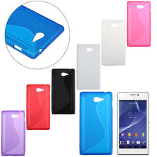 For Sony Xperia M2 Fashion Simple S-Line Rubber Soft TPU Bumper Case Gel Cover