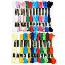 EMBROIDERY SEWING THREAD 12 SKEINS ASSORTED COLOURS 100% MERCERISED COTTON NEW