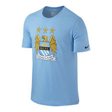 Nike Manchester City 2015-2016 Poly Core Badge Soccer Shirt  Brand New Sky Blue
